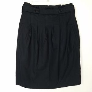 BCBGMAXAZRIA Skirt Paper Bag Pleated Stretch Wool